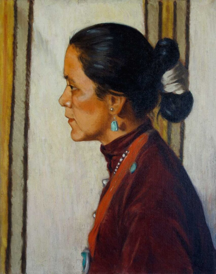"""Navajo Woman"", 1930 Portrait by Channing Peake"