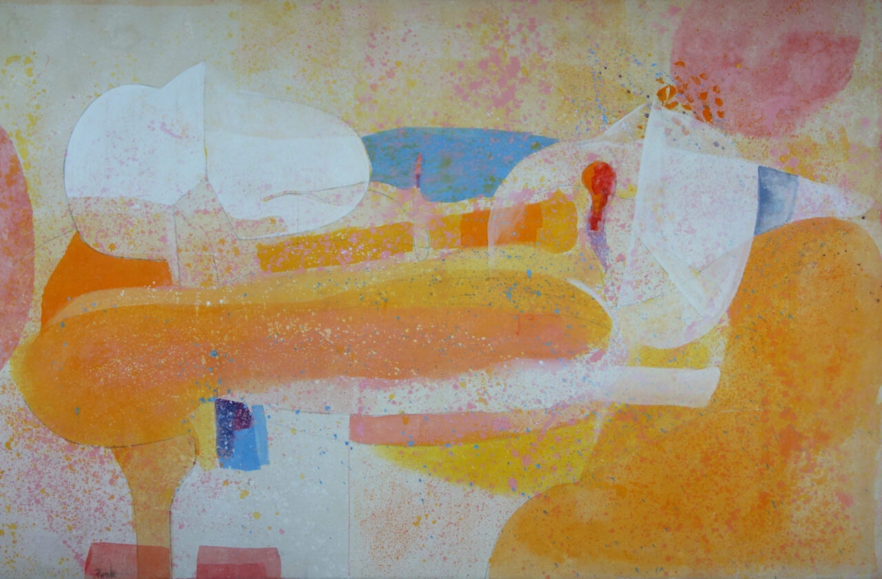 """Channing Peake Stain Painting """"Panamint"""" 1970"""